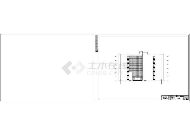 天元区商业办公楼设计cad详图及文字说明-图3