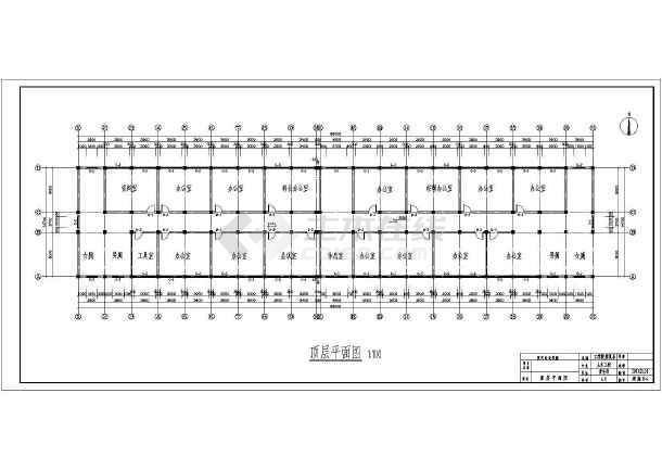 郑州市教委框架结构综合办公楼设计cad详细图纸-图1