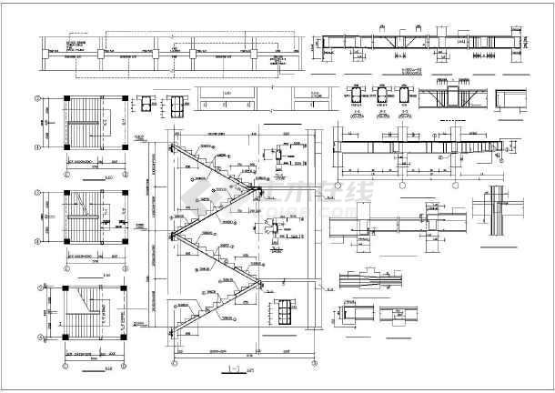 某地直燃机一级冷水泵控制柜电气控制原理图纸(全套)-图一
