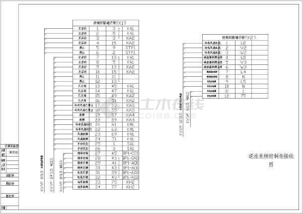 某地区多种变频CAD电气控制原理图-图二