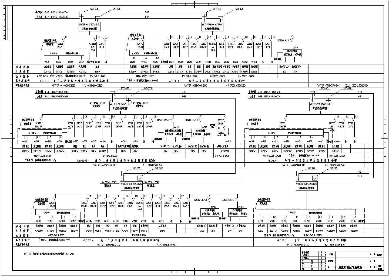 某大厦办公楼电气系统设计CAD施工图图片1