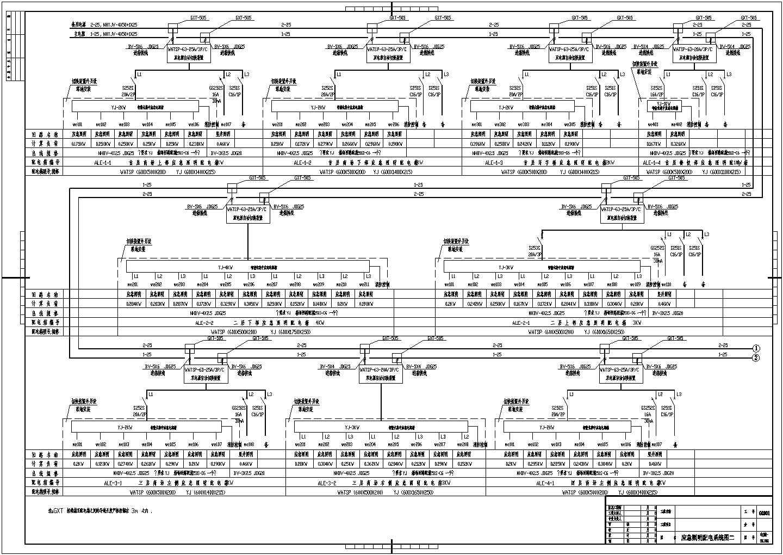 某大厦办公楼电气系统设计CAD施工图图片2