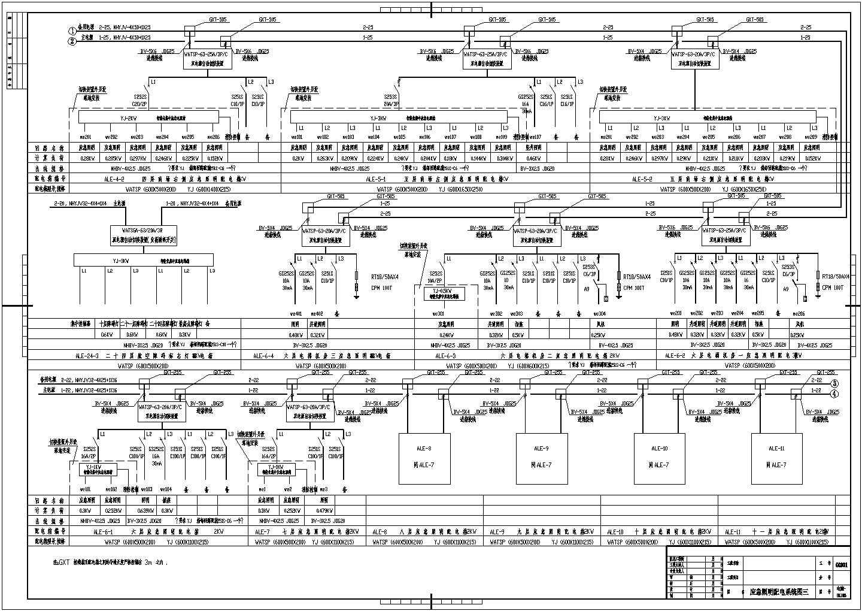 某大厦办公楼电气系统设计CAD施工图图片3