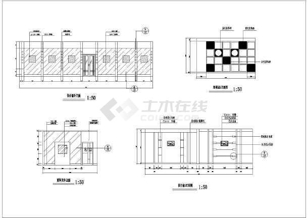 某地广场园林规划设计平面图(全套)-图一