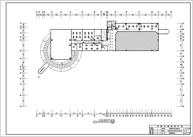 某地区经济开发区文体活动中心改造工程CAD图图片1