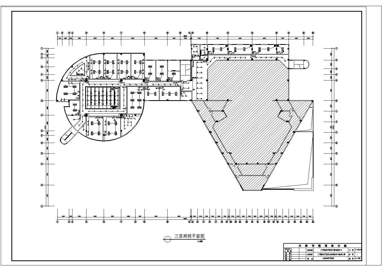某地区经济开发区文体活动中心改造工程CAD图图片2