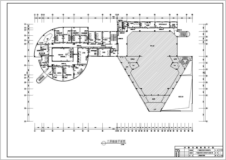 某地区经济开发区文体活动中心改造工程CAD图图片3