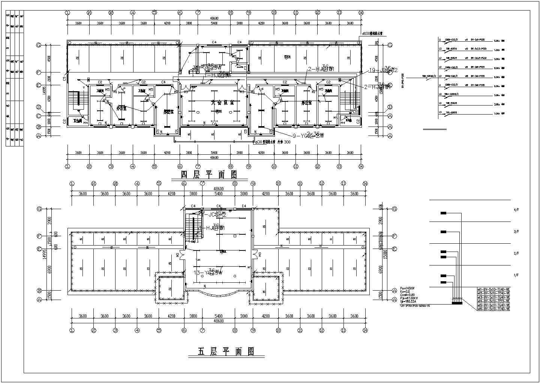 某地区多层办公楼电气谁施工总套图图片3
