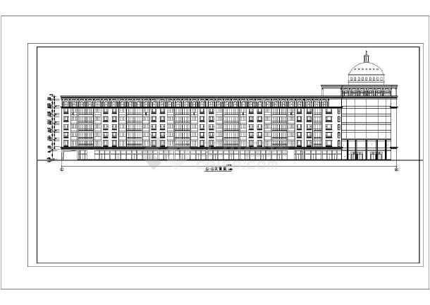 某地火车站广场园林绿化设计总平面图-图一