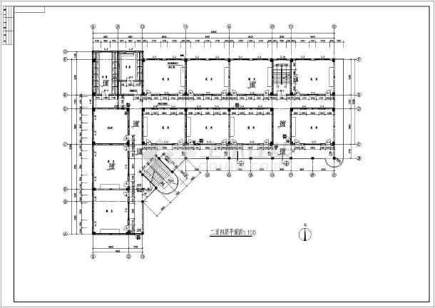 某中学教学楼建筑设计方案及施工全套cad图图片