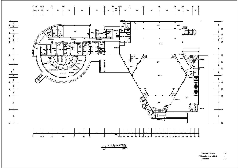 广州经济开发区文体活动中心改造工程配电设计CAD施工图纸图片2