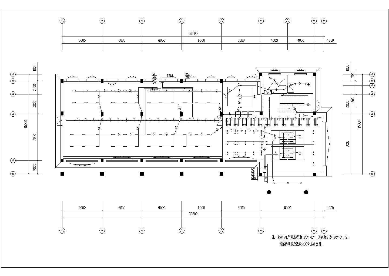 一套详细实用的三层办公楼电气施工图图片1