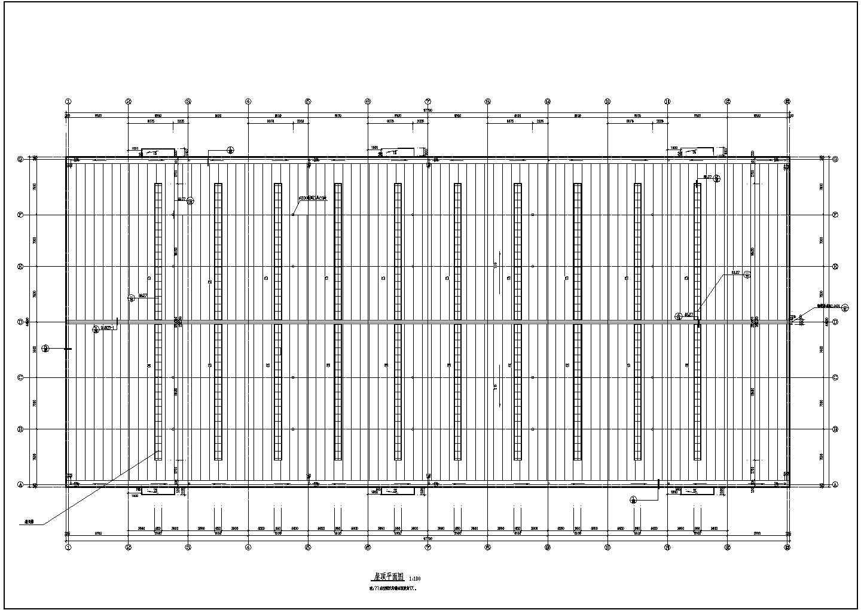 某单层钢结构工业厂房设计施工CAD建筑图图片1