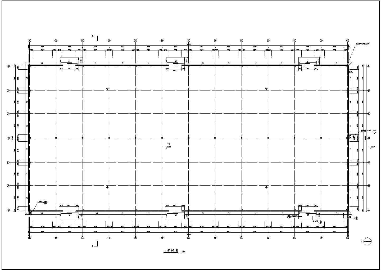 某单层钢结构工业厂房设计施工CAD建筑图图片2