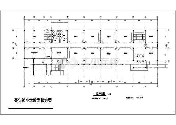 某小学教学楼方案设计cad详细图纸图片
