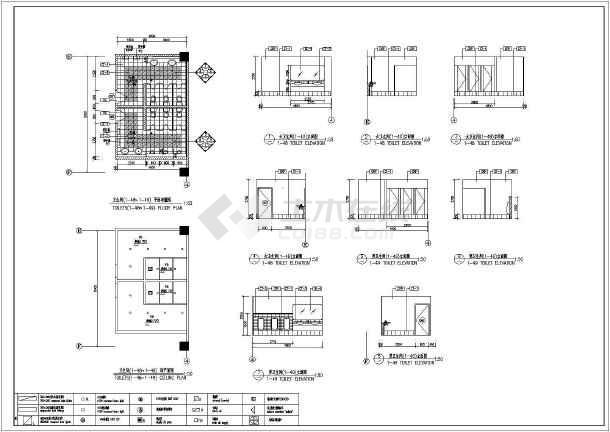 某地区小区卫生间建筑装修cad大样图-图1