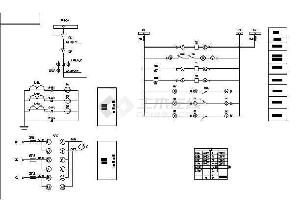 断路器设备电气控制原理图纸(全套)-图一