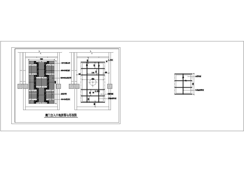 餐饮酒店类CAD施工图图纸三层酒店装修图一层平面图纸图片2