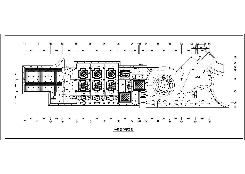 餐饮酒店类CAD施工图图纸三层酒店装修图一层平面图纸图片3