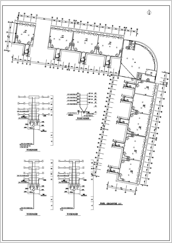 某地区多层办公楼电气设计方案施工图图片1