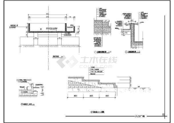 雕塑休闲城市广场建筑设计方案全套CAD图纸-图1