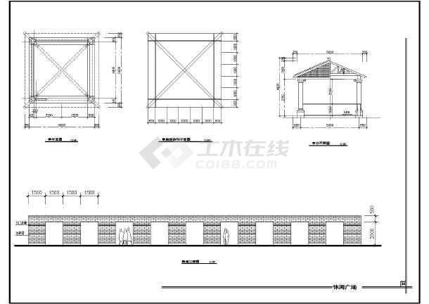 雕塑休闲城市广场建筑设计方案全套CAD图纸-图3
