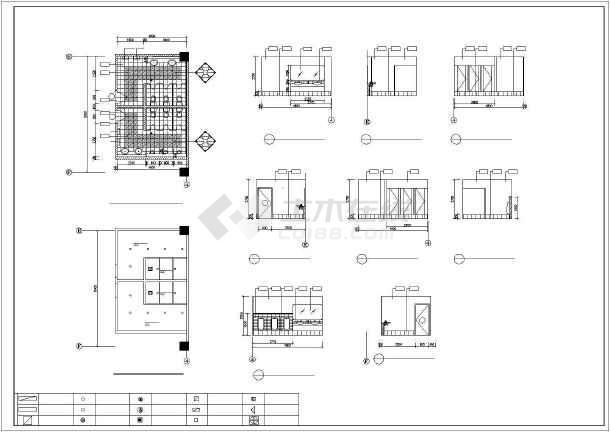 某城市卫生间CAD装修详细大样图-图1
