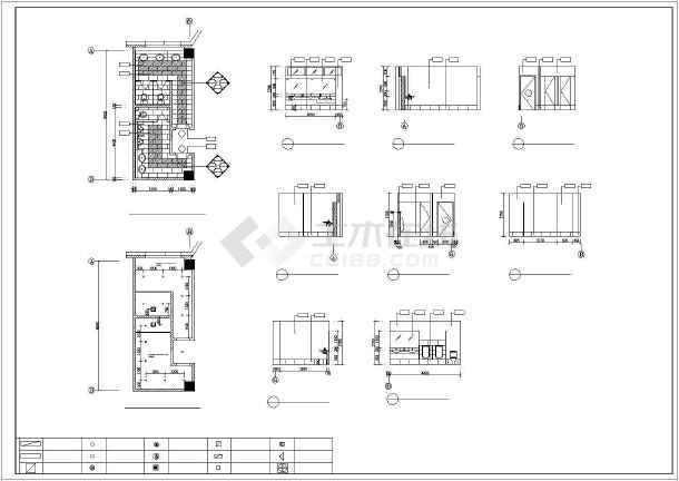 某城市卫生间CAD装修详细大样图-图2