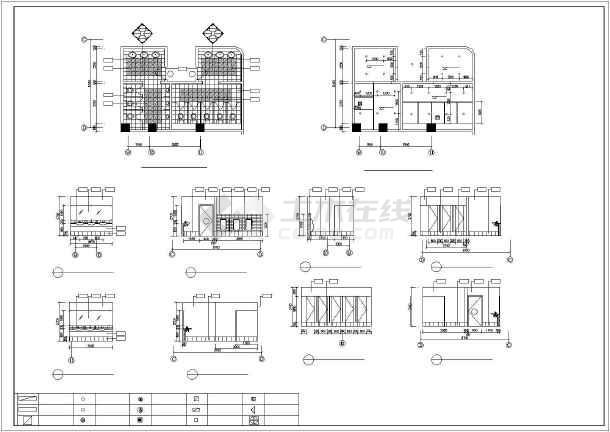 某城市卫生间CAD装修详细大样图-图3