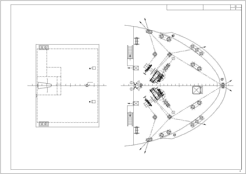 12500吨货船照明及插座设备布置图方案图片2