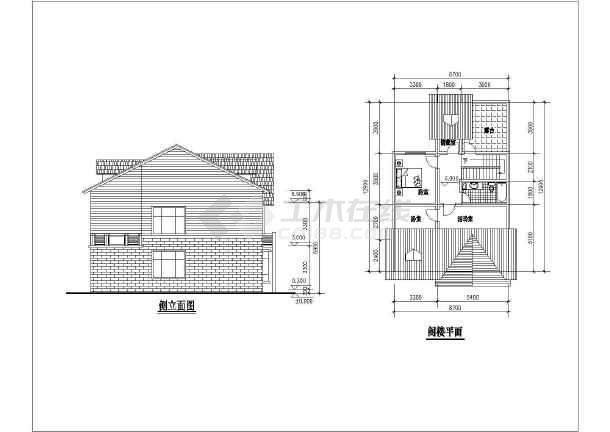 点击查看几套完整别墅户型的CAD设计方案图第1张大图