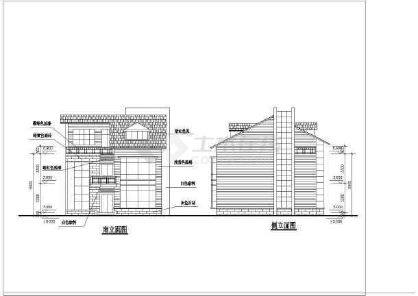点击查看几套完整别墅户型的CAD设计方案图第2张大图