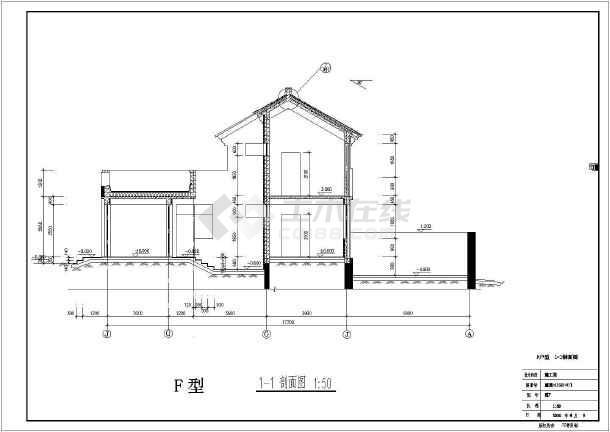 某地经典别墅户型图设计施工CAD图纸-图1