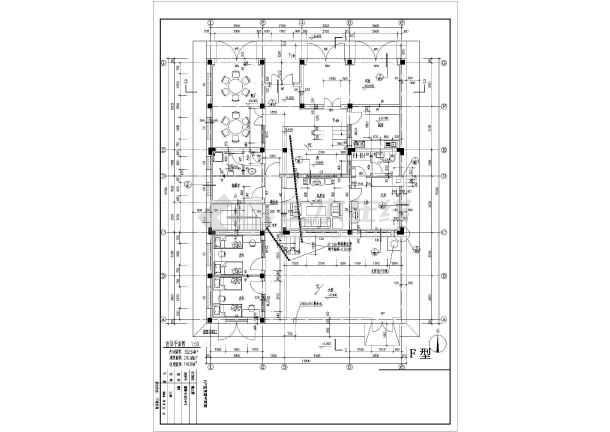 某地经典别墅户型图设计施工CAD图纸-图2