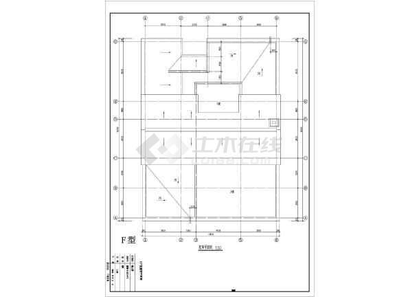 某地经典别墅户型图设计施工CAD图纸-图3