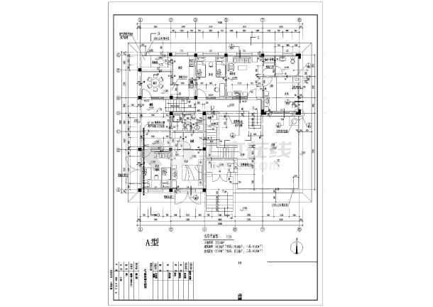 某地区别墅户型图设计施工CAD图纸-图2