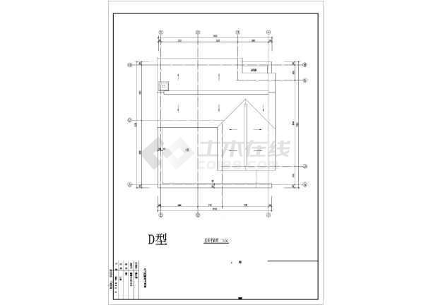 某地别墅户型图经典设计施工CAD图-图2