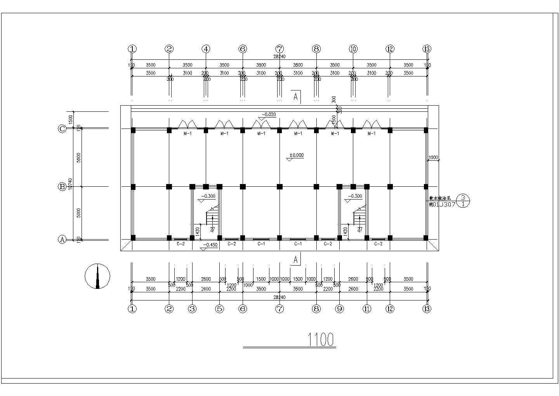 长40米 宽10.5米 六层安置楼二单元1968平米对称户型住宅楼图纸图片1