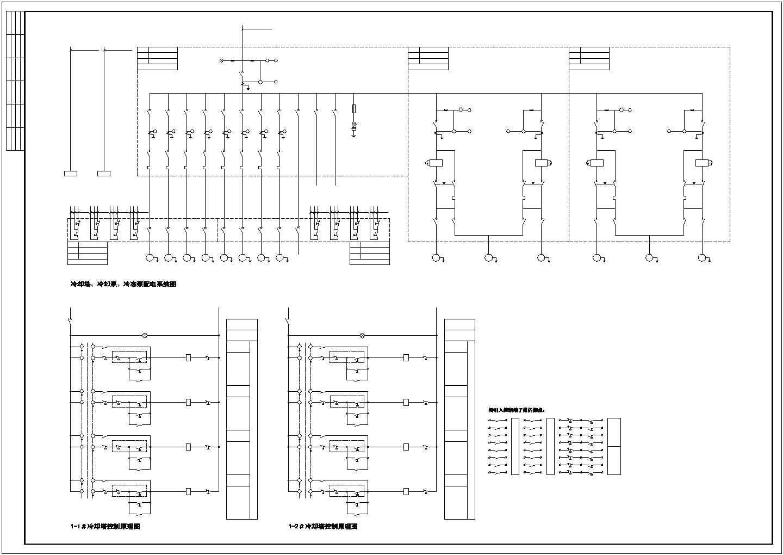 中央空调水系统配电及控制原理图纸方案图片2