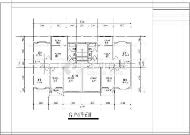 某地大型经典别墅户型建筑图(全套)-图1