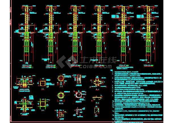 超深基坑开挖旋转栈桥CAD设计图-图1