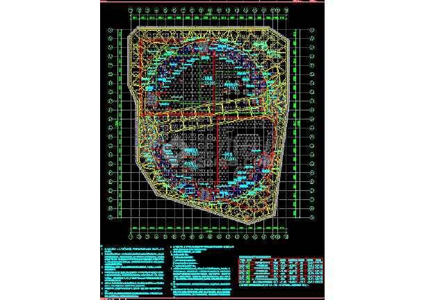 超深基坑开挖旋转栈桥CAD设计图-图2