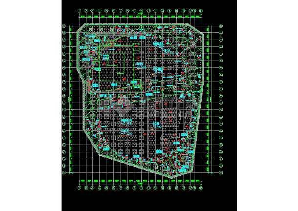 超深基坑开挖旋转栈桥CAD设计图-图3