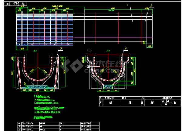路桥工程渡槽结构与模板CAD设计套图-图3