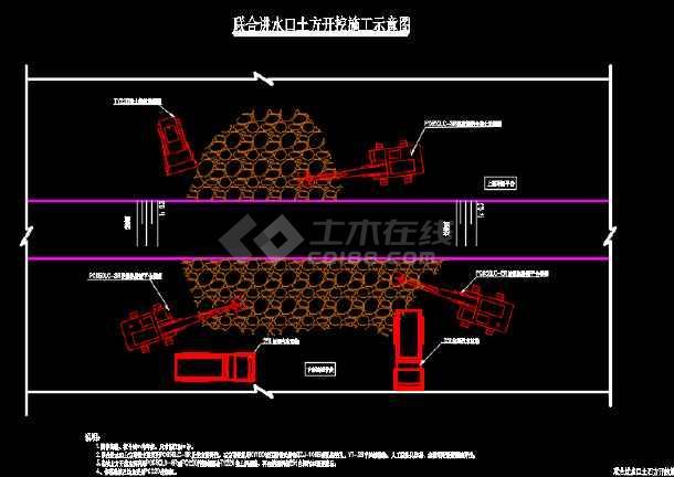 水利工程联合进水口土方工程施工图-图3