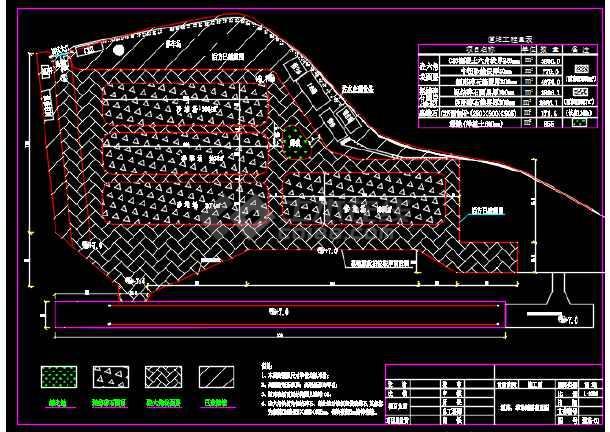 码头陆域道堆工程设计CAD施工图-图1