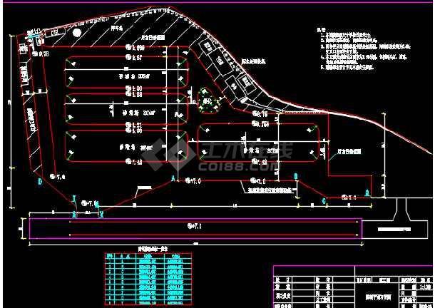 码头陆域道堆工程设计CAD施工图-图3