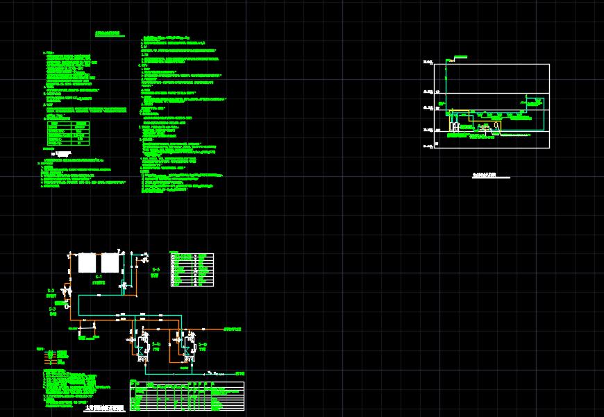 某地太阳能热水系统CAD展开原理图图片1