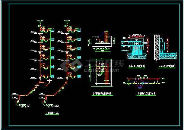 点击查看某地住宅楼地板采暖设计CAD图纸第2张大图