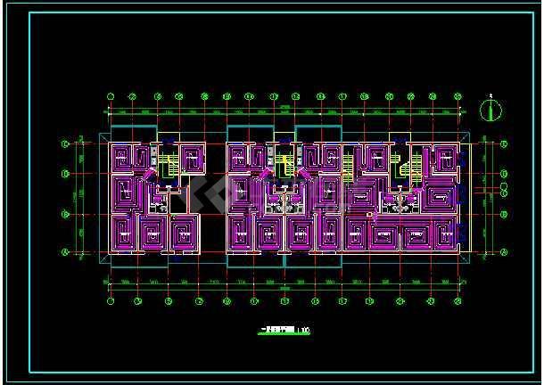 某地住宅楼地板采暖设计CAD图纸-图2